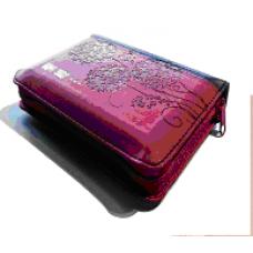 聖經(和合本)3系列-桃紅儷皮拉鍊銀邊