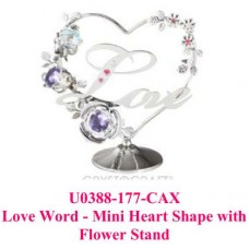 Love Word-Mini heart shape with Flower Stand