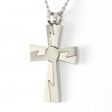 2合1精鋼閃電十字架吊咀